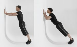 flexiones pared