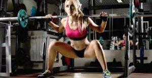 squat con una barra